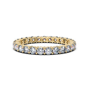 Diamond Eternity Band Yellow Gold
