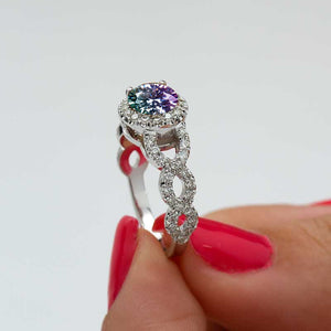 alexandrite engagement ring diamond