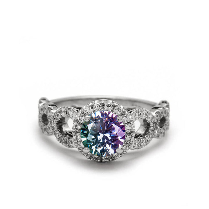 diamond alexandrite engagement ring