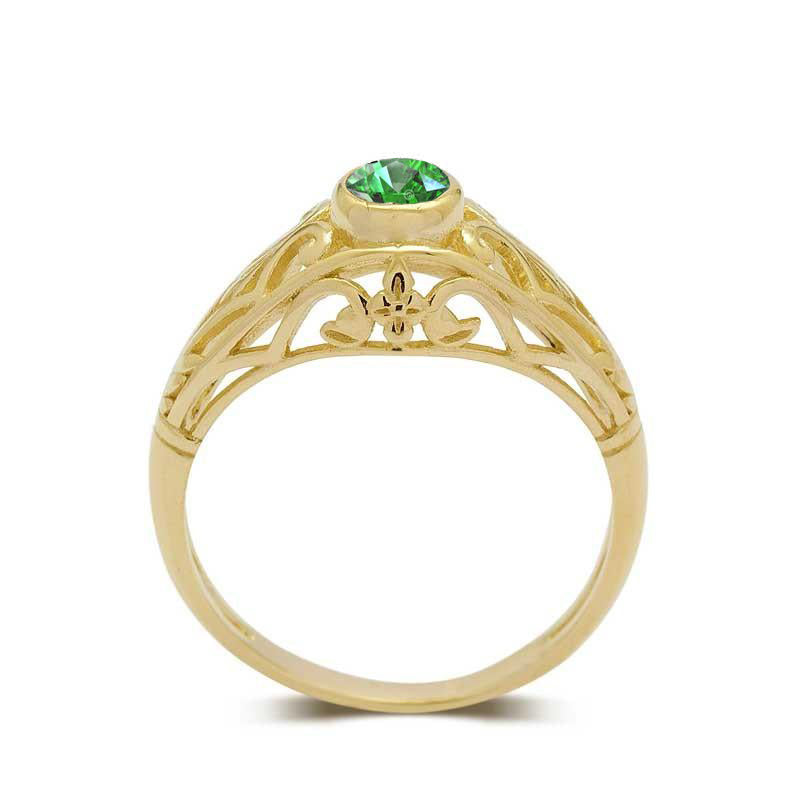 emerald engagement ring art deco