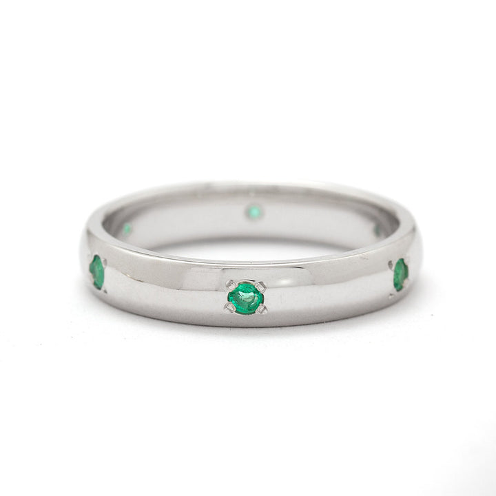 emerald wedding band