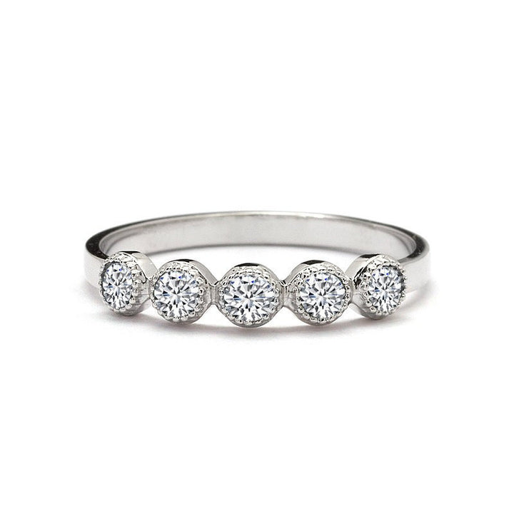 Five Diamonds Wedding Ring