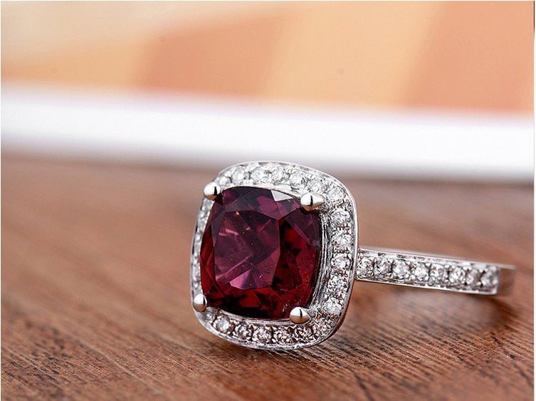 Franca Garnet Engagement Ring