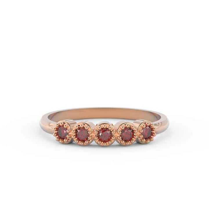garnet wedding band