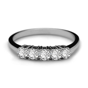 Gia 5 Diamonds Wedding Ring