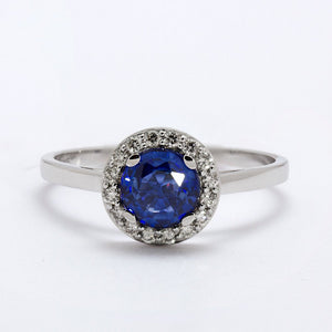 Caro Blue Sapphire Engagement Ring