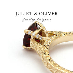Garnet Engagement Ring