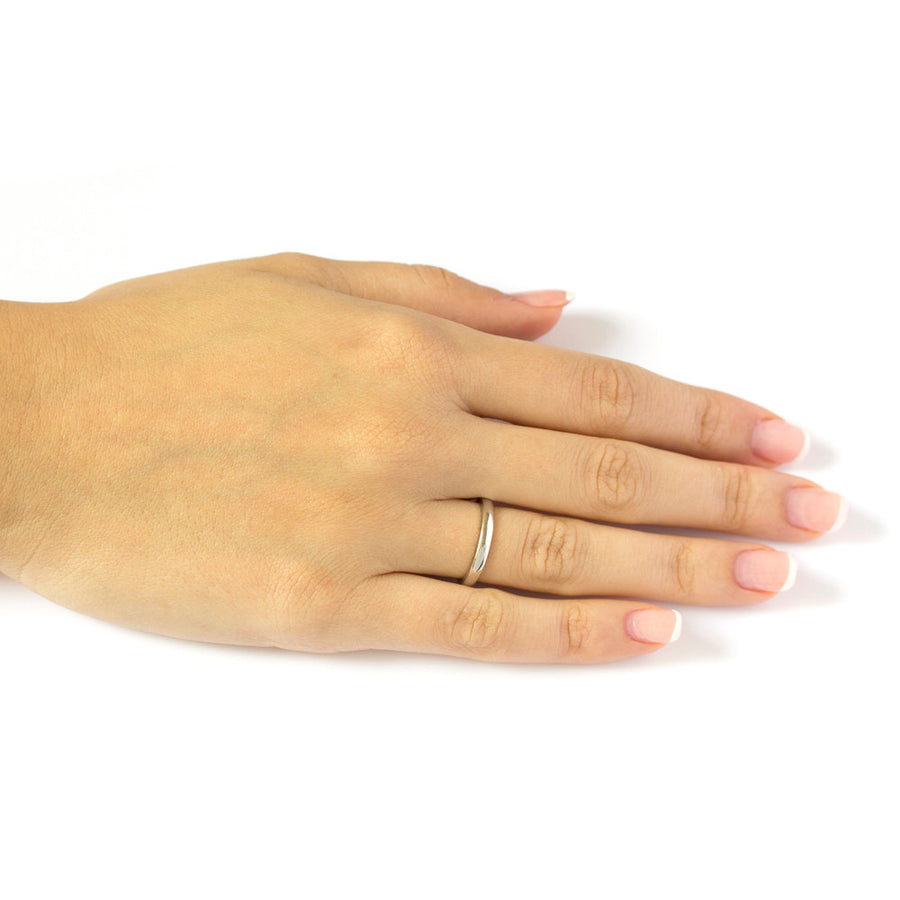 14k White Gold The Classique Ring