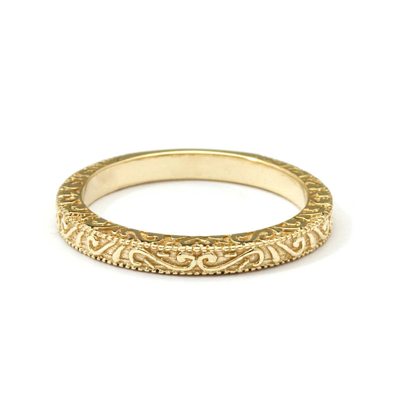 18K Yellow Gold The Casablanca Wedding Band