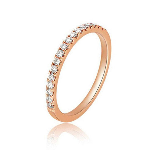 Rose Gold And Diamond Wedding Band
