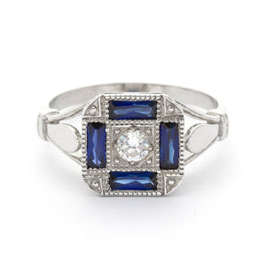 Isabella Antique Sapphire Ring