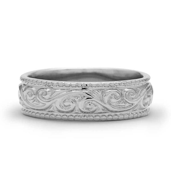 LA SCROLL WEDDING RING