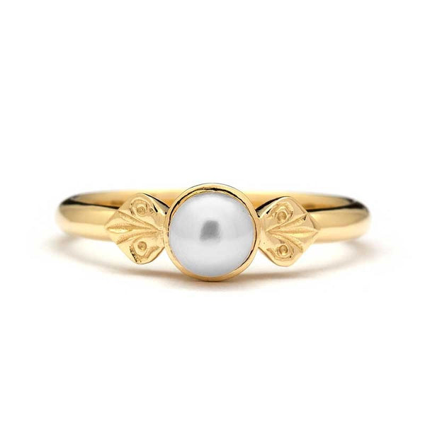 vintage pearl engagement ring lana