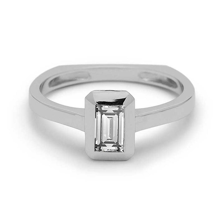 Luca Baguette Diamond Ring