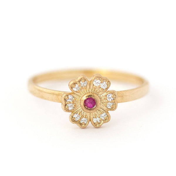 Marissa Flower Ruby Ring