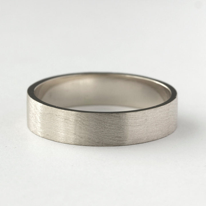 mens white gold wedding band