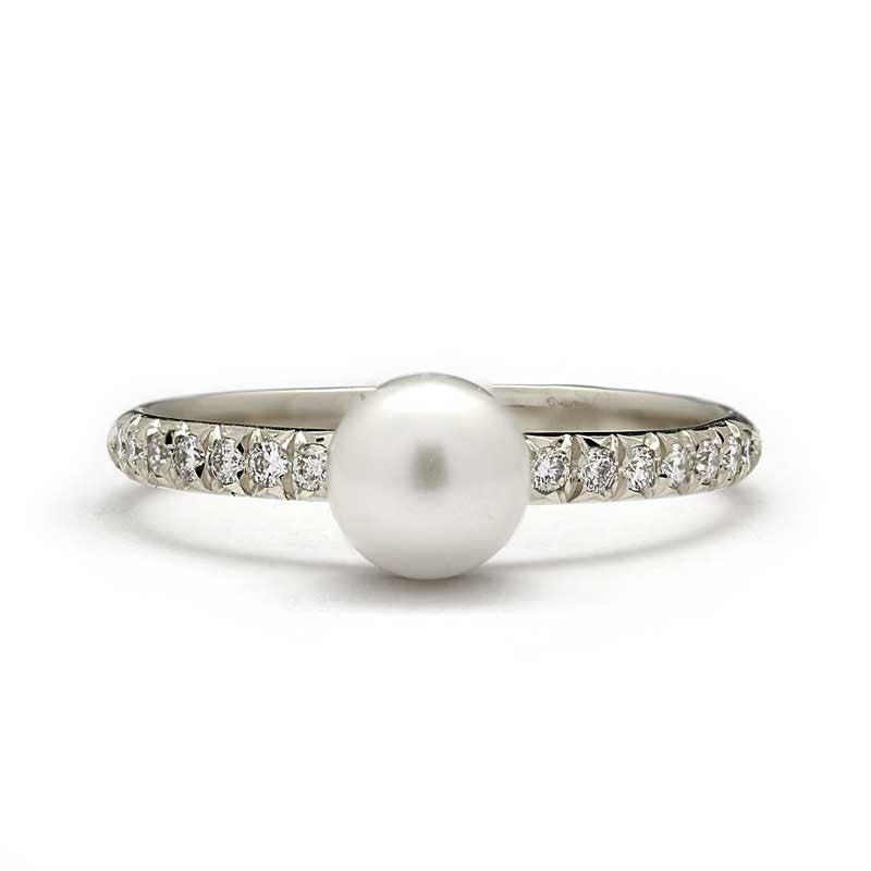 pearl engagement catbird every diamond gorgeous mywedding rings jewellery of and for bride kind ring