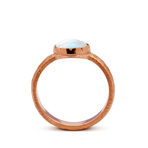 moonstone engagement ring gold