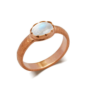 moonstone engagement ring rose gold 14k
