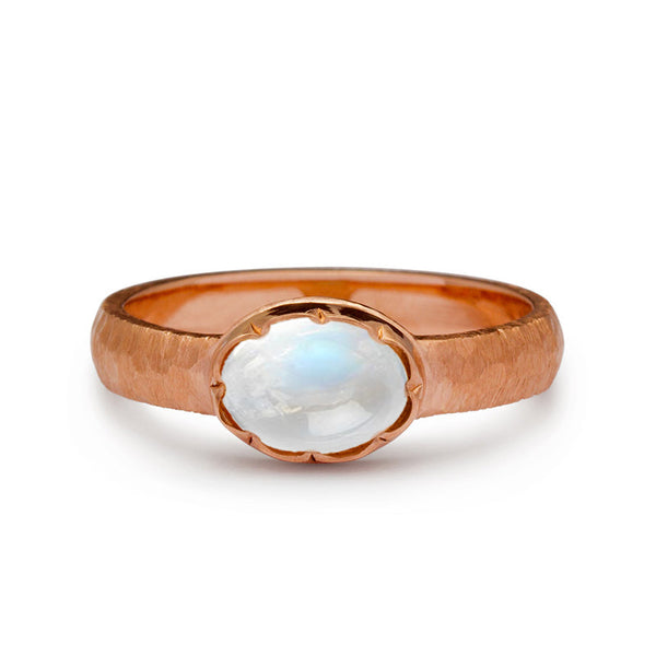 moonstone engagement ring rose gold