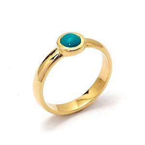 turquoise engagement ring yellow gold
