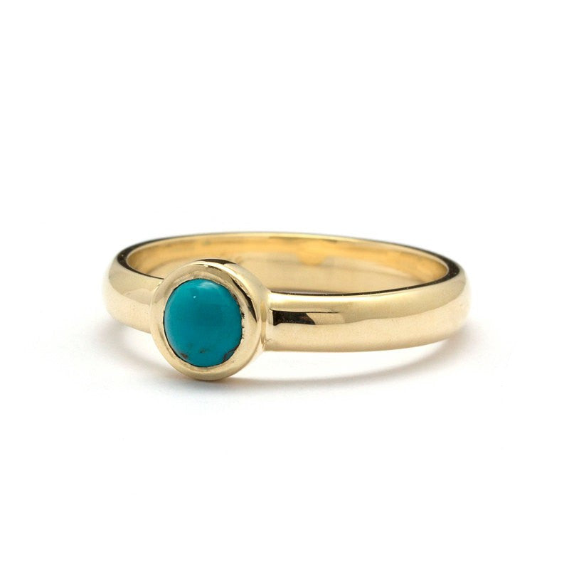 yellow gold turquoise engagement ring