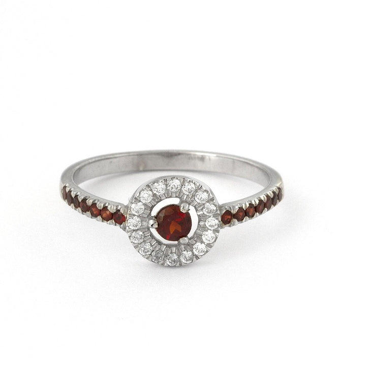 Paloma Garnet Engagement Ring