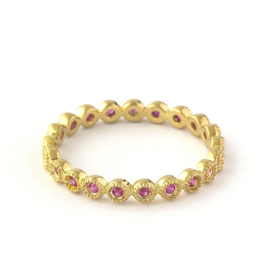 Pink Ruby Eternity Ring