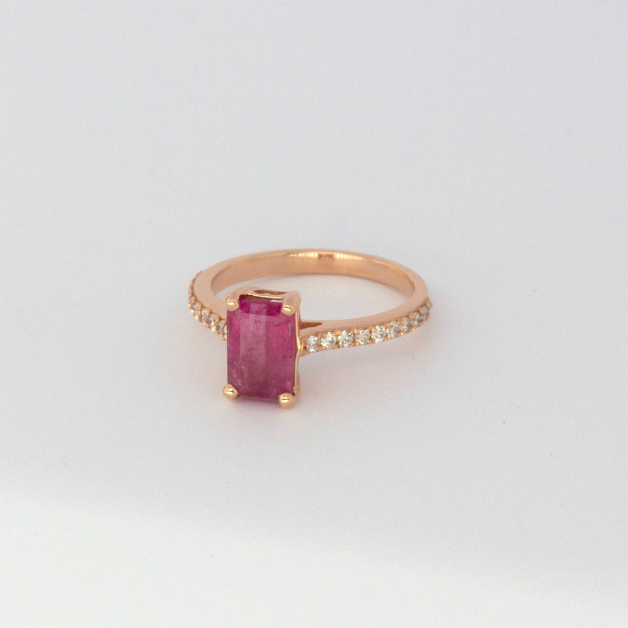 pink tourmaline ring rose gold
