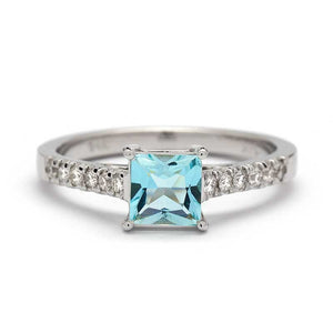 aquamarine engagement ring