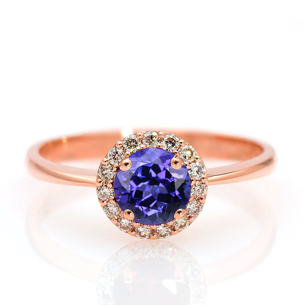tanzanite engagement ring rose gold