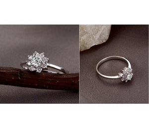 floral halo engagement ring diamonds