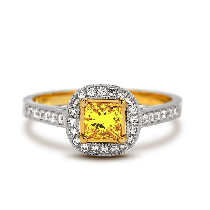 fancy yellow diamond engagement ring