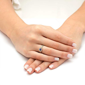 diamond tanzanite engagement ring white gold