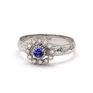 diamond tanzanite engagement ring