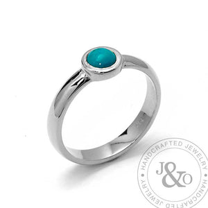turquoise engagement ring white gold