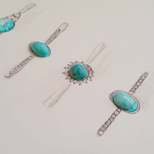 real turquoise rings