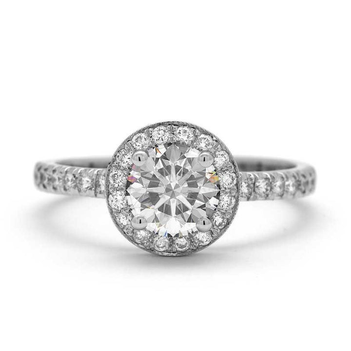 1 CARAT HALO DIAMOND ENGAGEMENT RING - THE VERONA RING
