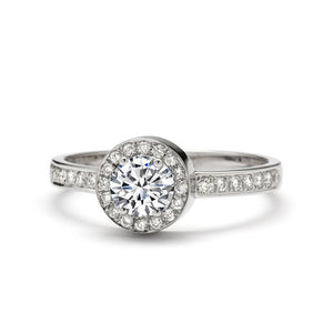 Halo Diamond Engagement Ring 0.80 Carat Vesuvia ring