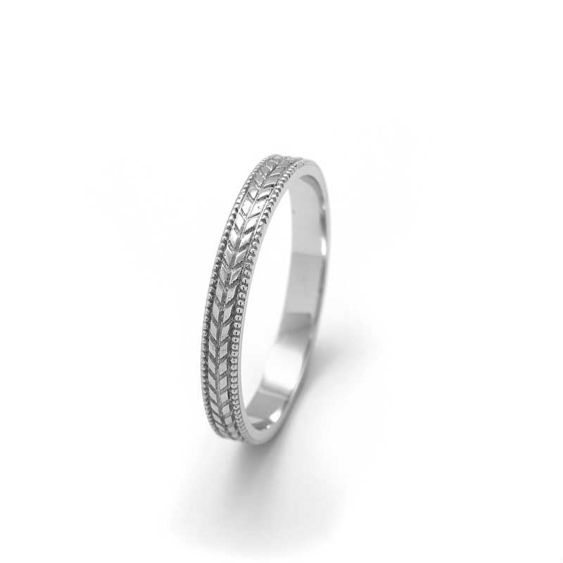 vintage style wedding ring white gold