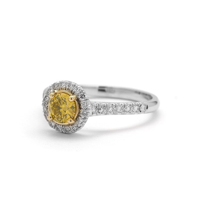 Viviana Yellow Diamond Engagement Ring