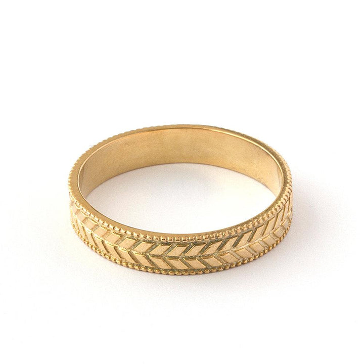14K Rose Gold The Vintage Wheat Ring