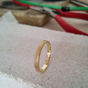 vintage wheat wedding ring
