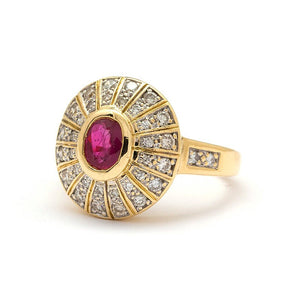 Zara Vintage Ruby Engagement Ring