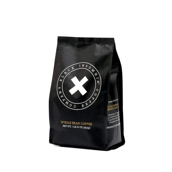 Black Insomnia Coffee Beans & Ground