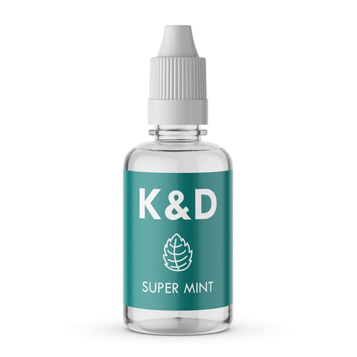 Køb K&D Super Mint 30ml for kun 75.00 kr hos Kaffe & Damp Kompagniet