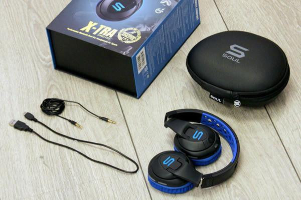 SOUL X-TRA Performance Bluetooth Over-Ear Headphones for Sports:  EXTRA SOUND, EXTRA MOTIVATION