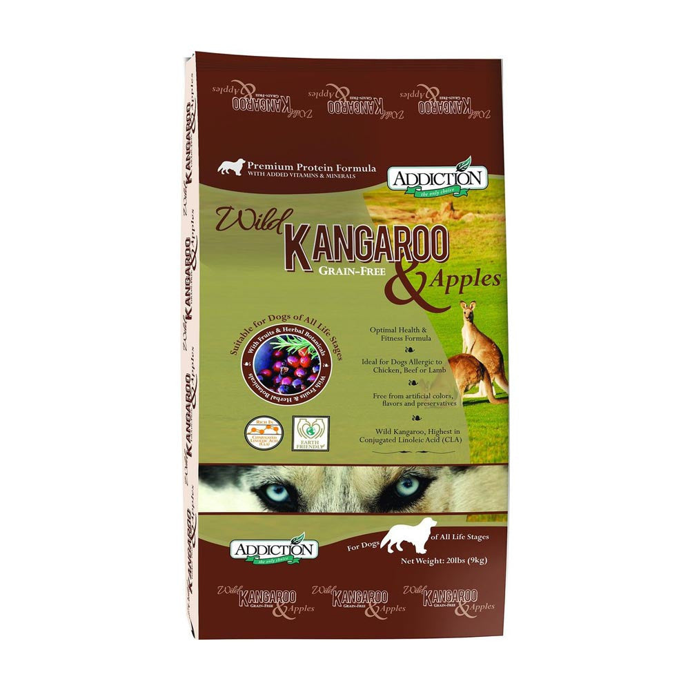 Addiction Wild Kangaroo & Apples Dog Food Delivery in Malaysia