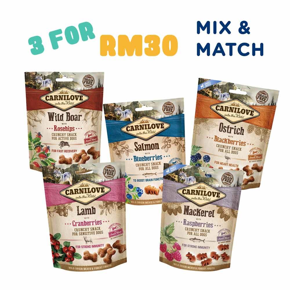 Carnilove Dog Treats [3 for RM30]
