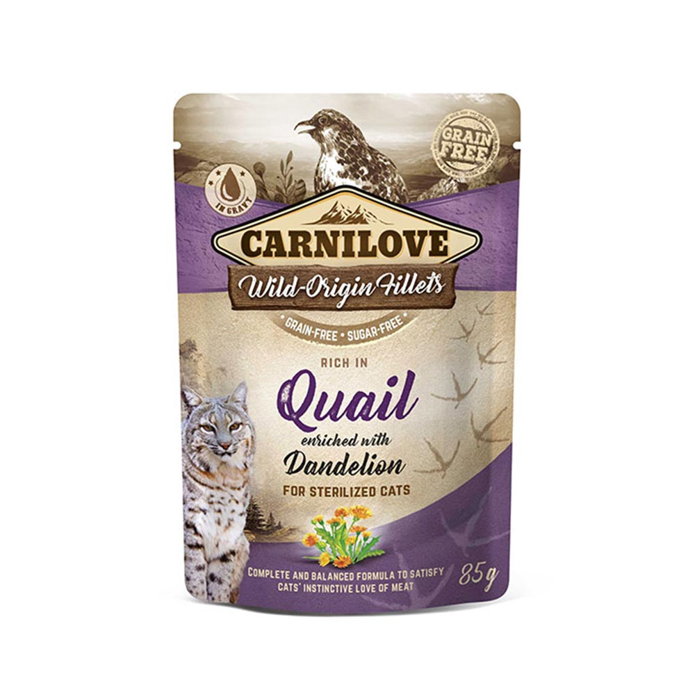 Quail enriched with Dandelion for Sterilised Cats